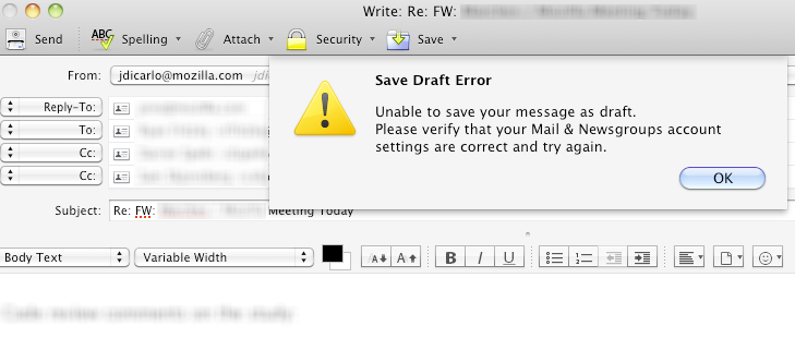 Cannot Send Messages in Thunderbird