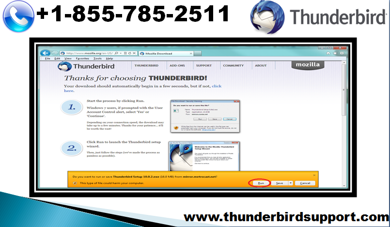 Thunderbird technical support number