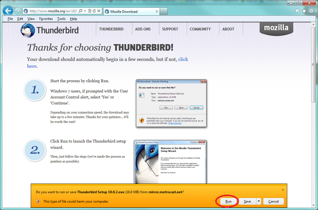 Technical Support for Mozilla Thunderbird