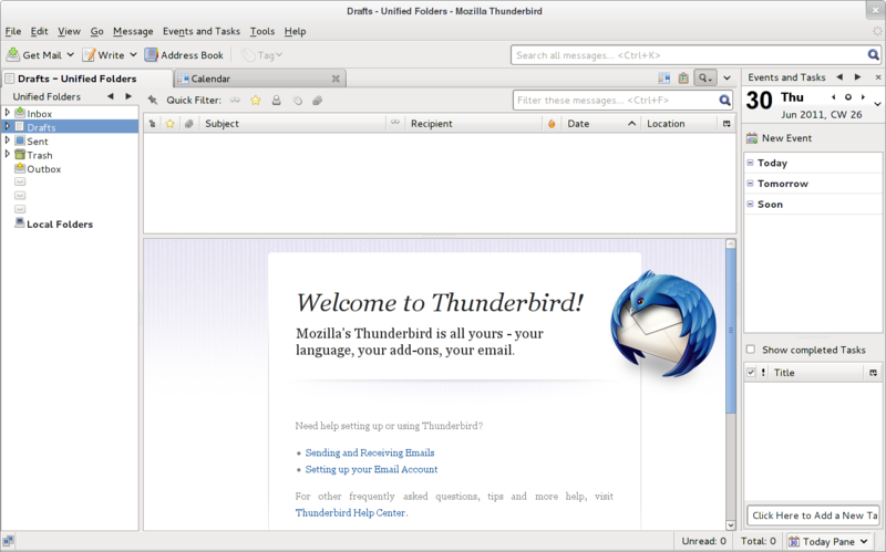 Open Mozilla Thunderbird Address Book