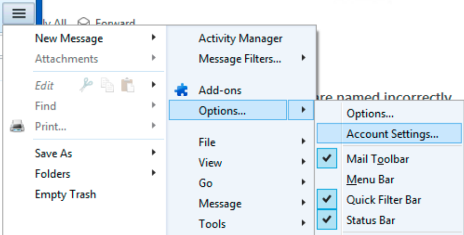 Bad outgoing attachments Office 365 in thunderbird