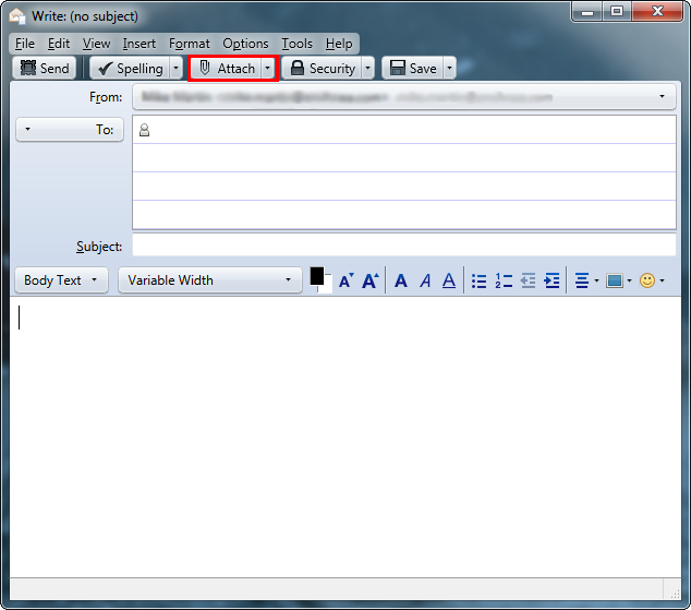 ATTACH FILE IN THUNDERBIRD EMAIL