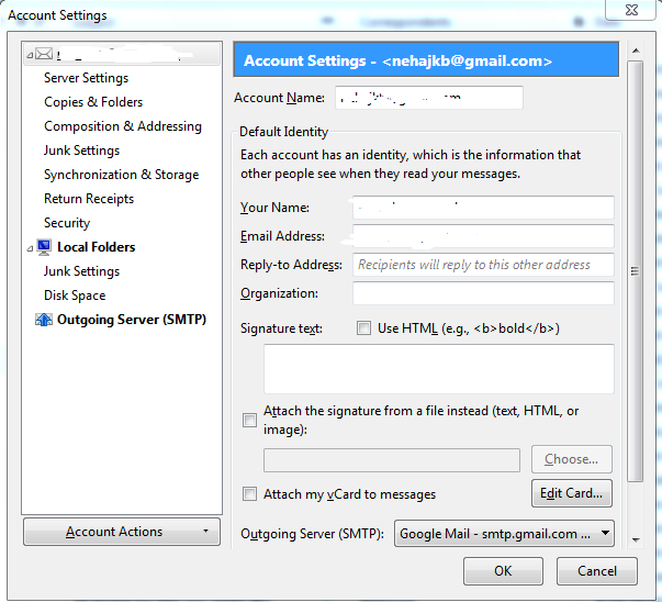 ATT email settings with Mozilla Thunderbird