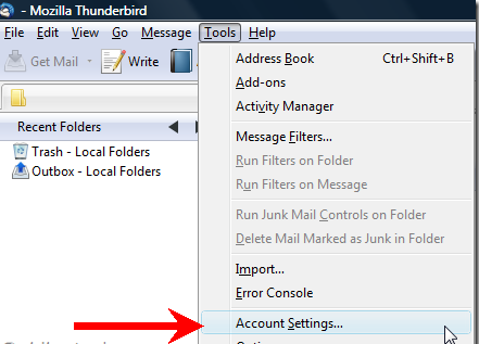 Gmail Setup On Thunderbird